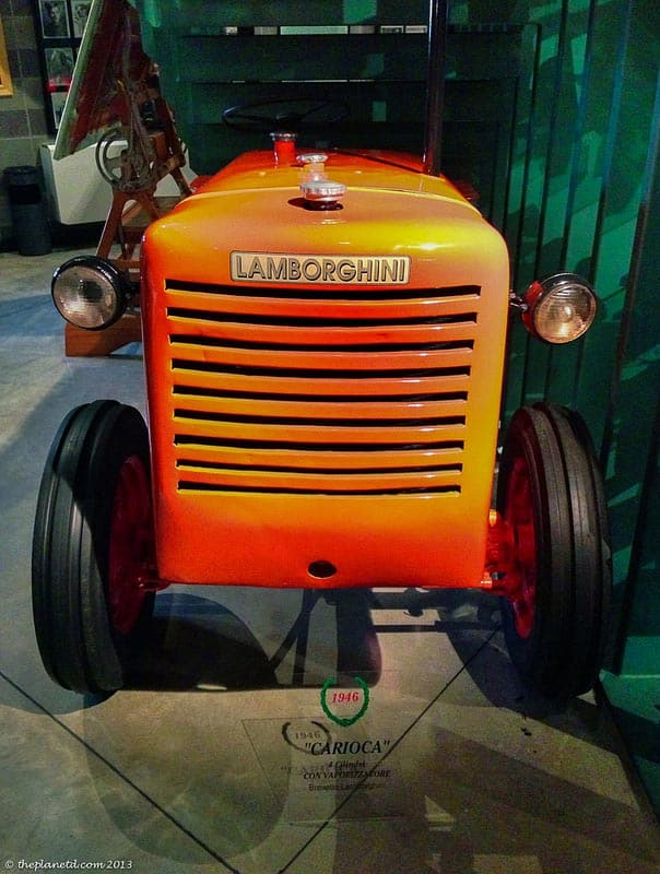 lamborghini tractor at museum