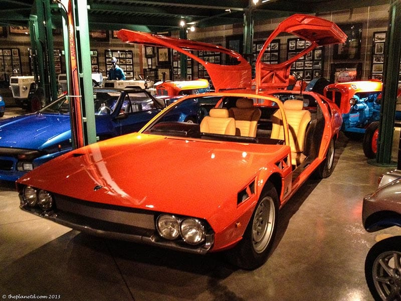 lamborgini museum prototype care on display