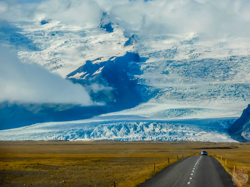 glaciers of iceland ice road