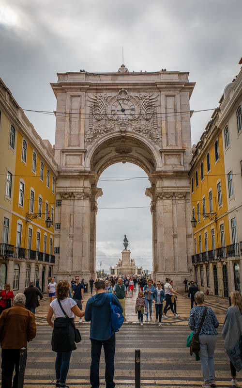 Rua Augusta Arch | things to do in lisbon on a lay over