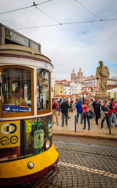 Достопримечательности Лиссабона | трамвай 28