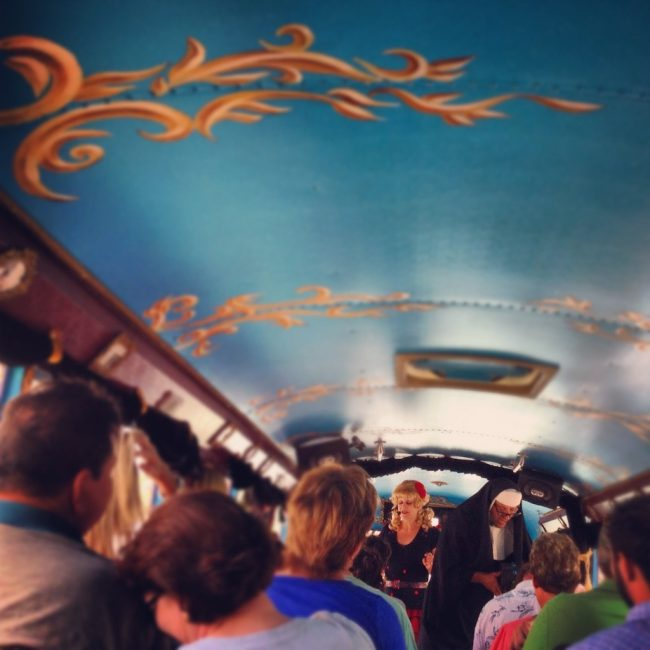 bus tour filled with Travel Bloggers