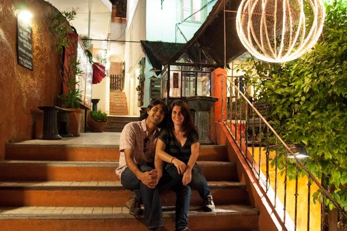 lisbon portugal couple on steps