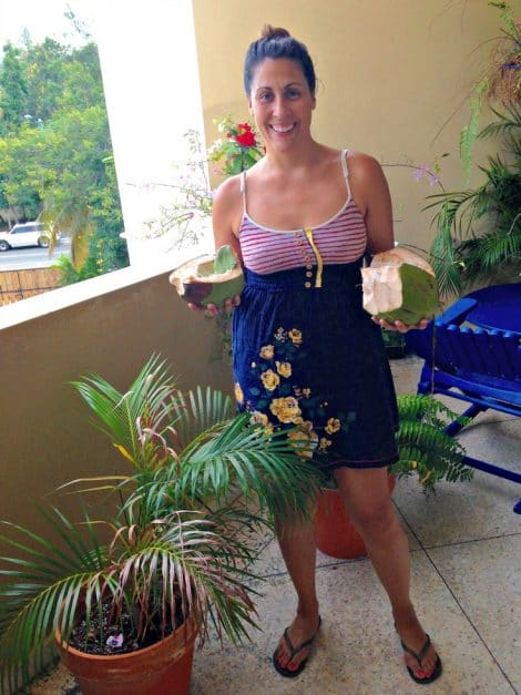 living in the dominican republic coconuts