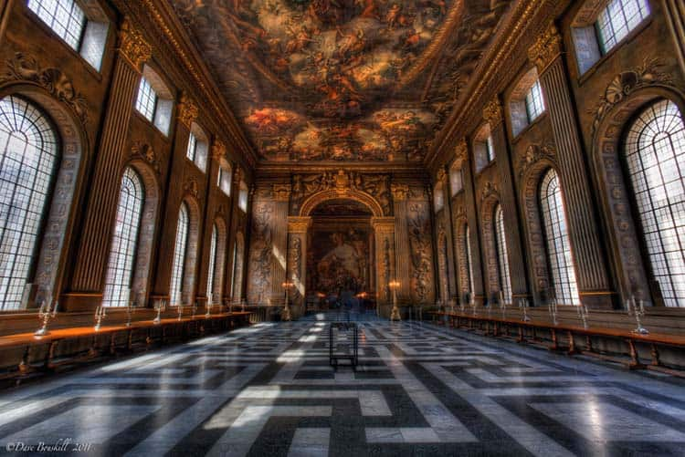 london landmarks in photos painted hall
