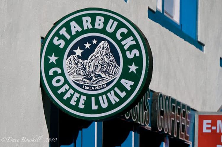 Starbucks in Lukla ...but not Really! Nepal has a habit of copying trademarks