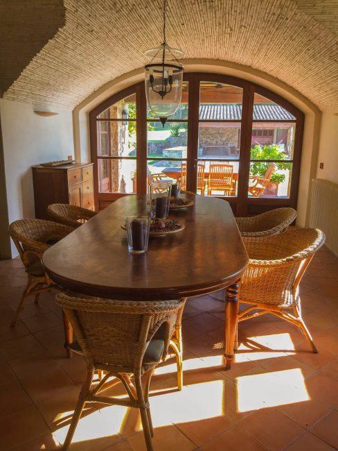 dining room spanish villa