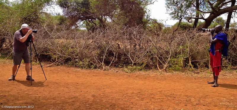 maasai visit kenya taking photos