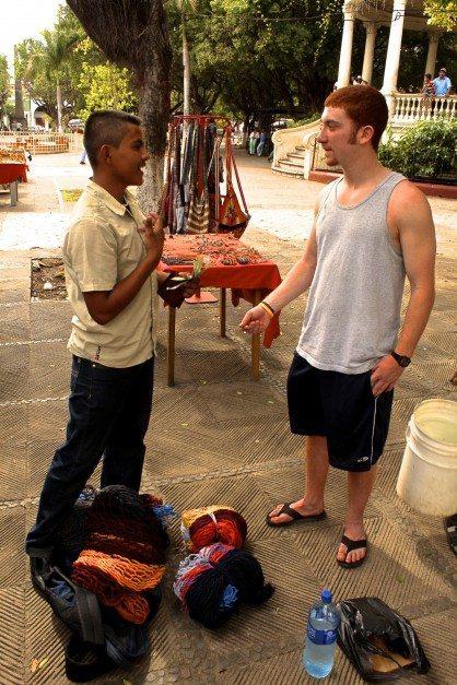 making a friend in nicaragua