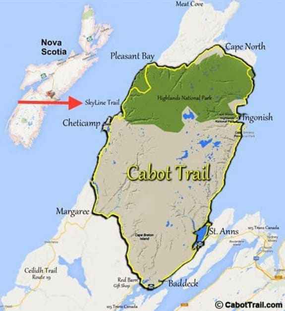 map cabot trail