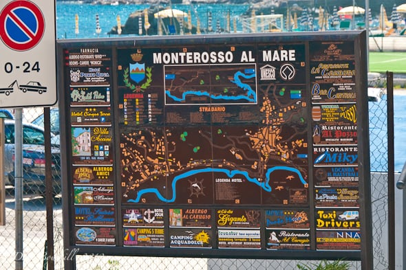 map of monterosso