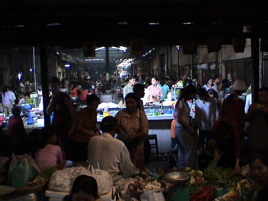 Market in Siem Riep Cambodia