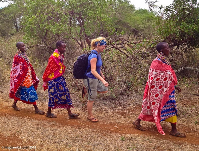 maasai people deb walks with the ladies