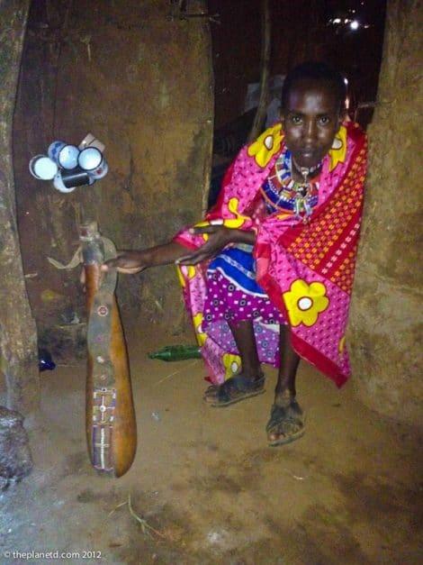 masai people man with club