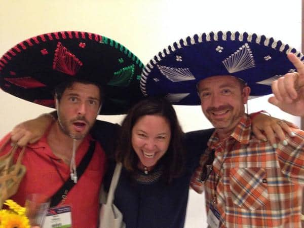 Matt and his Sombrero with Troy, Anne's husband and Jen Leo