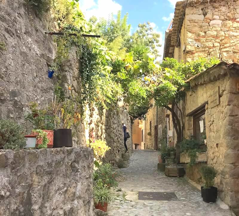 walking through a village in france coaraze