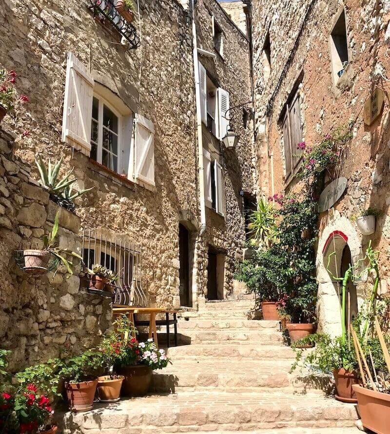 medieval village Tourrettes sur Loup France