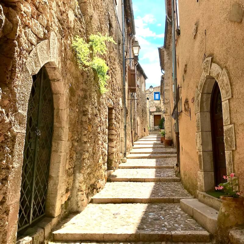 french village . Sainte Agnes alley
