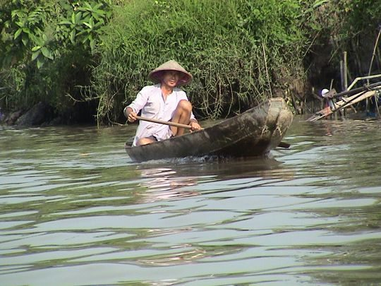 Boat on River of Mekong Delta