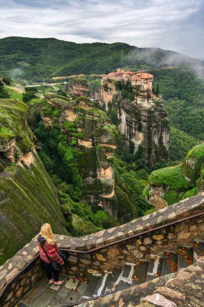 meteora monastery steps