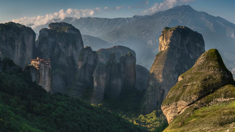 a monastery amongst the monoliths of meteora