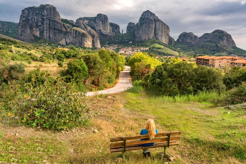 views of meteora greece