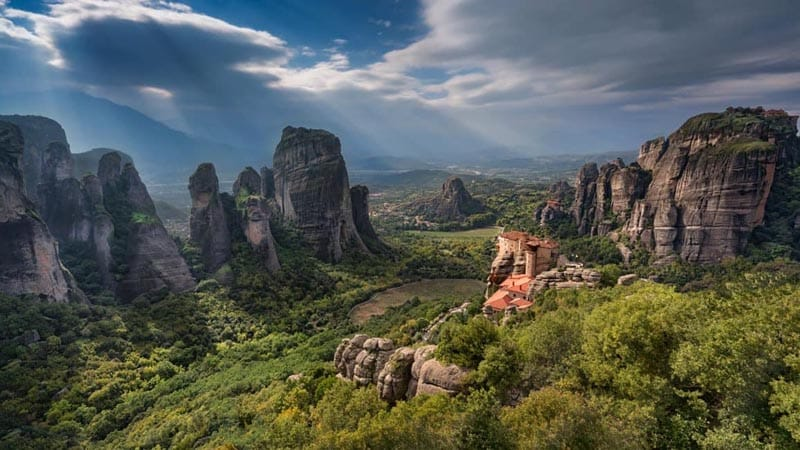 meteora greece magnificent monastereis in the clouds