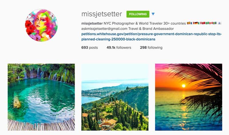 miss jetsetter instagram