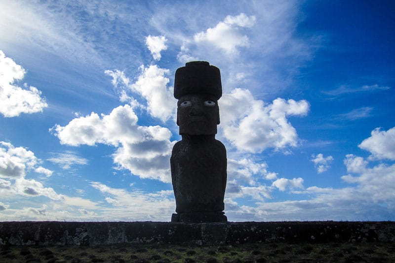 Moai with Eyes