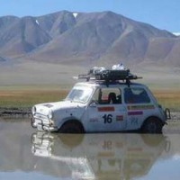 mongol rally car from 2004