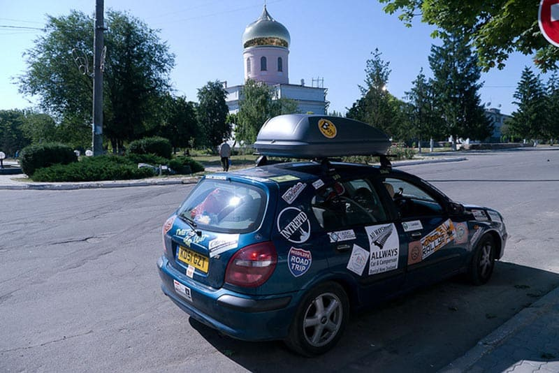 mongol rally car kasakhstan