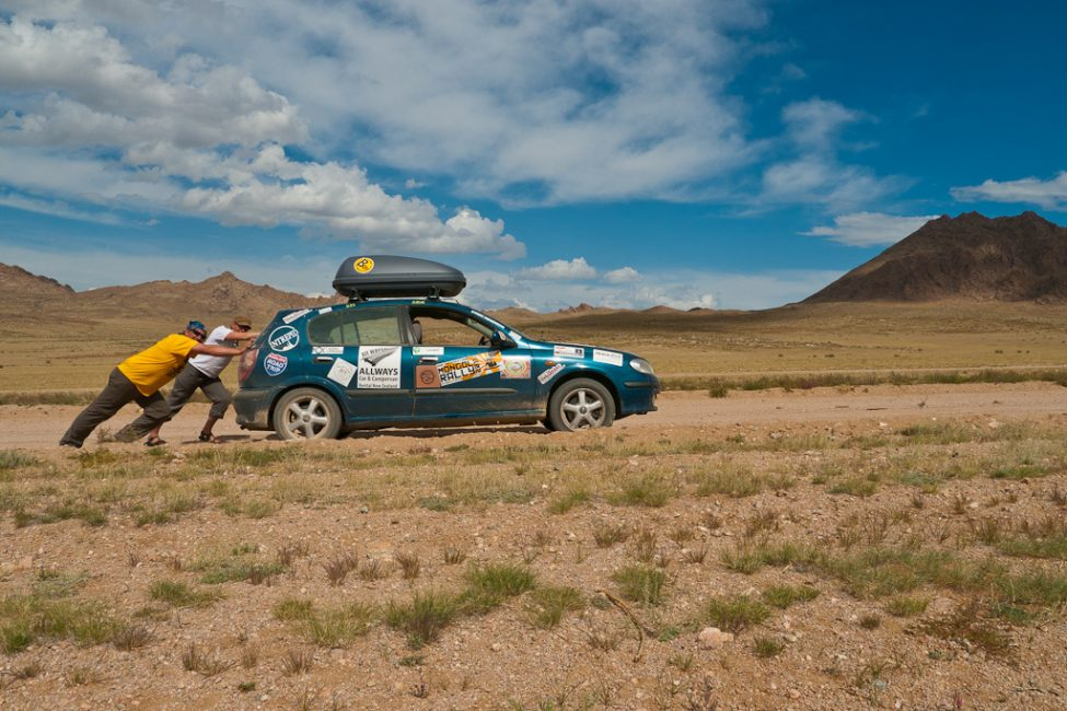 mongol rally car