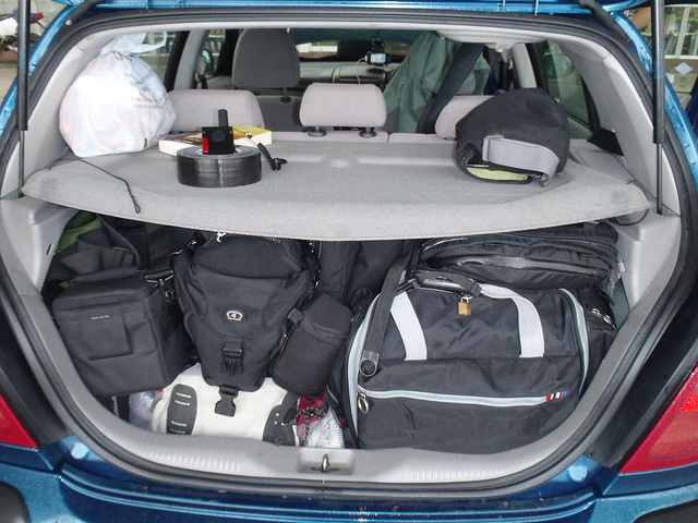 mongol rally packed car