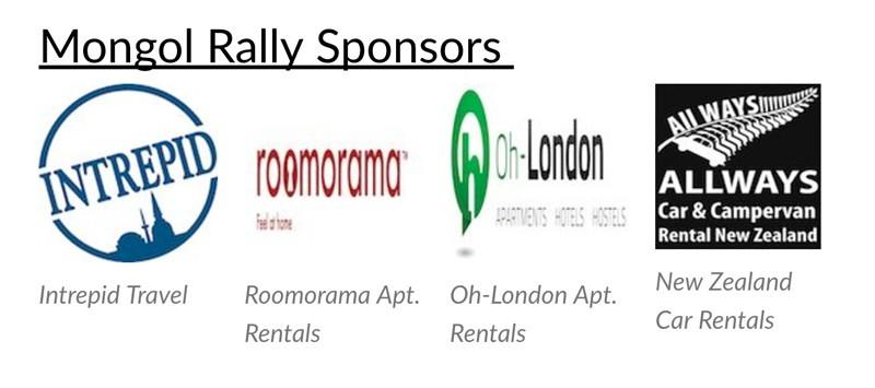 mongol rally sponsors