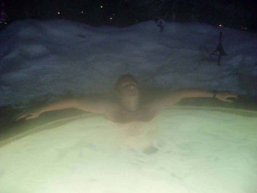 Hot tub of the Fairmont at Mont Tremblant