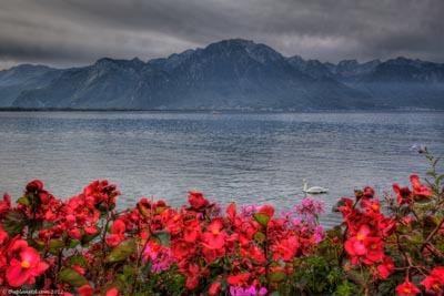 montreux view of lake