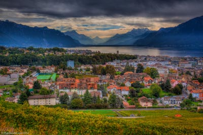 montreux switzerland view