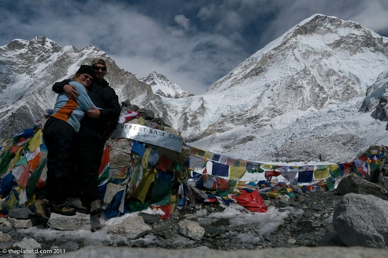 more dave and deb at everest base camp