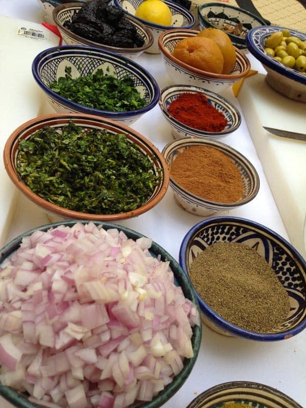 Spinches de cuisine marocaine