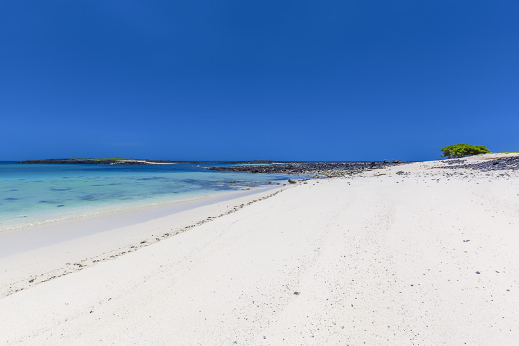 Remote beaches in the Galapagos Islands