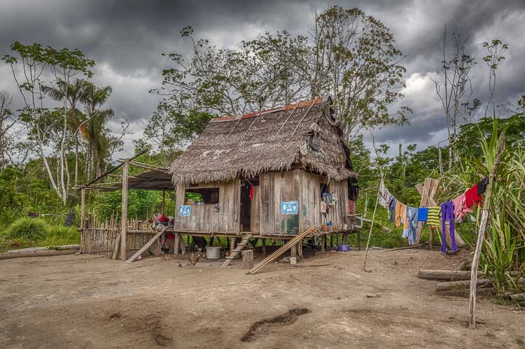 Village in the Peruvian Amazon