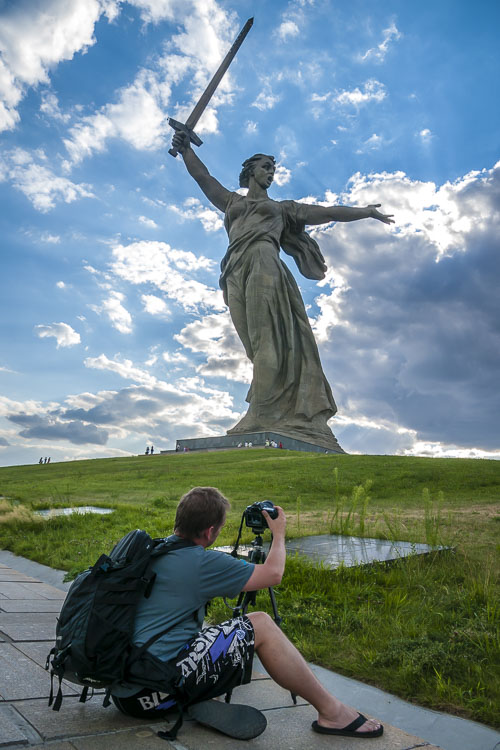 Mother Russia Statue in Siberia Russia