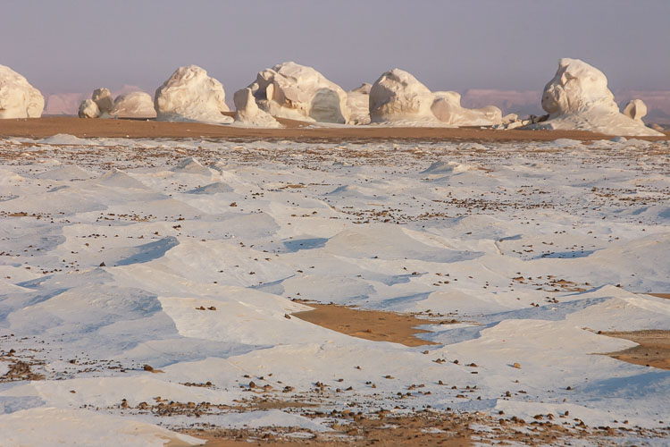 The rugged landscape of the White Desert