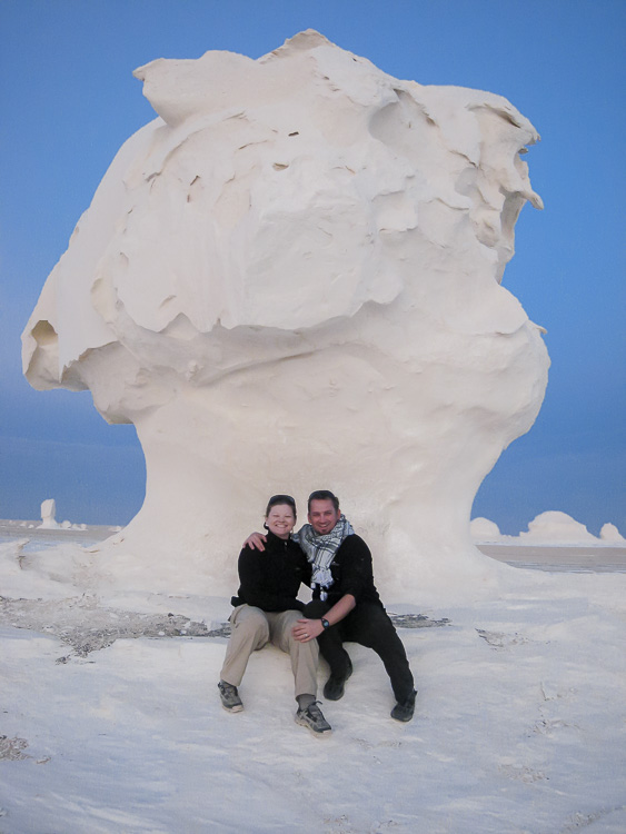 The White Desert in Egypt