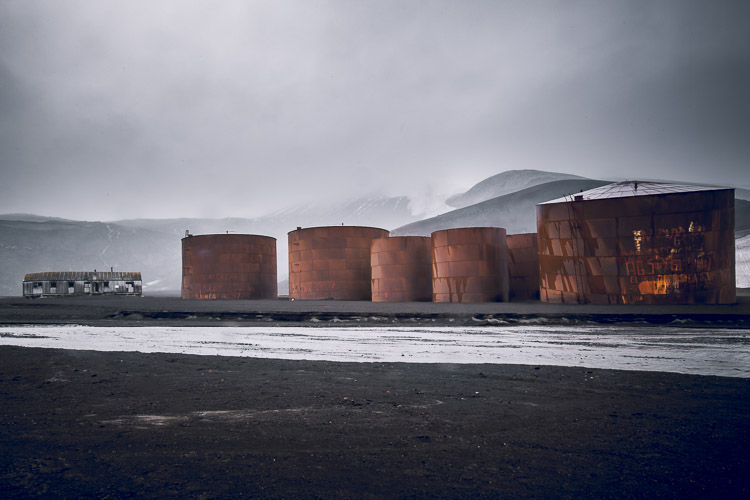 Abandoned Whaling Station on Deception Island Antarctica