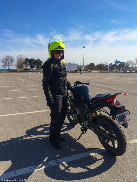 deb on motorcycle