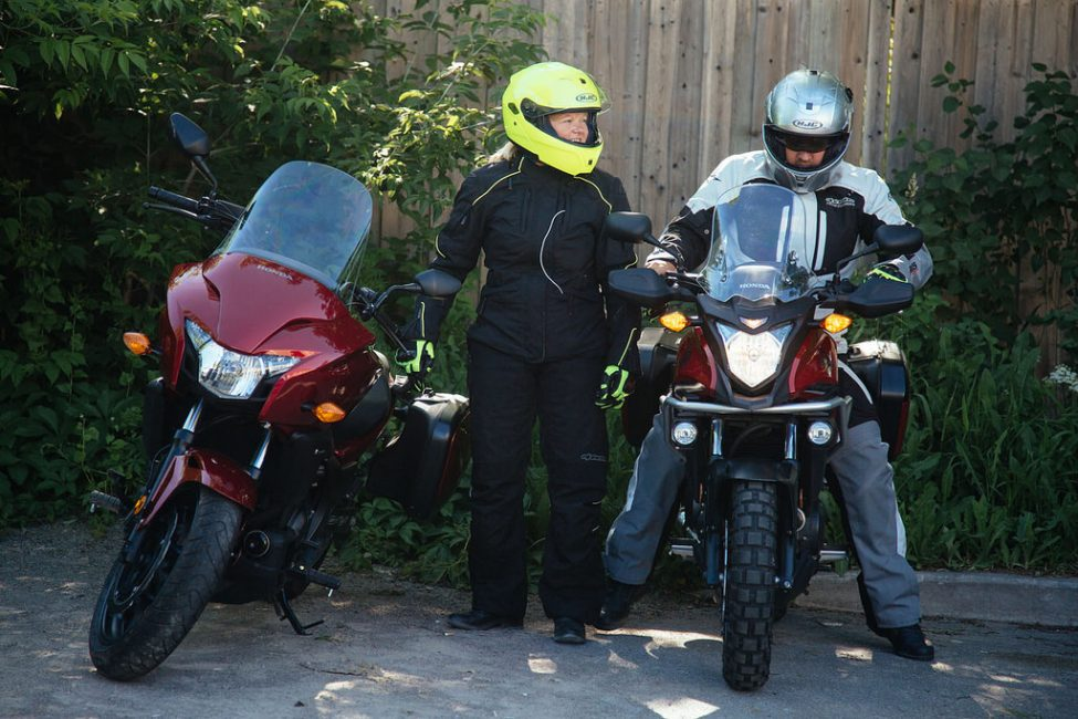 Ready for our ride in full gear