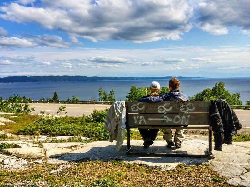 motorcycle lake superior bench