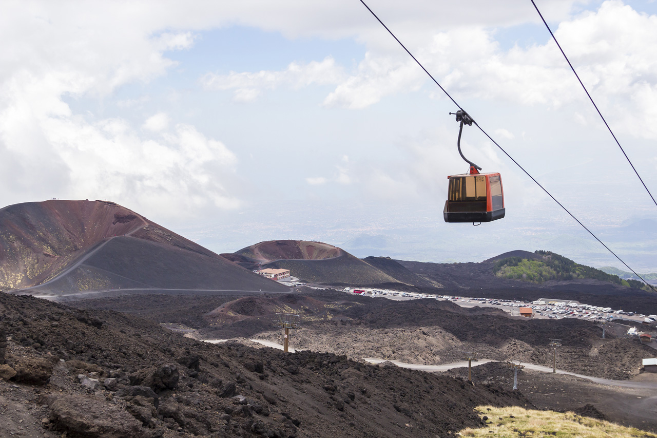 cable car up mount etna