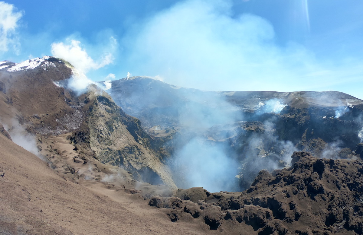 hiking mount etna sicily | Sulphur crater